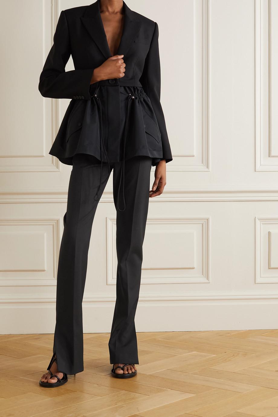Alexander McQueen Hose mit geradem Bein aus Wolle