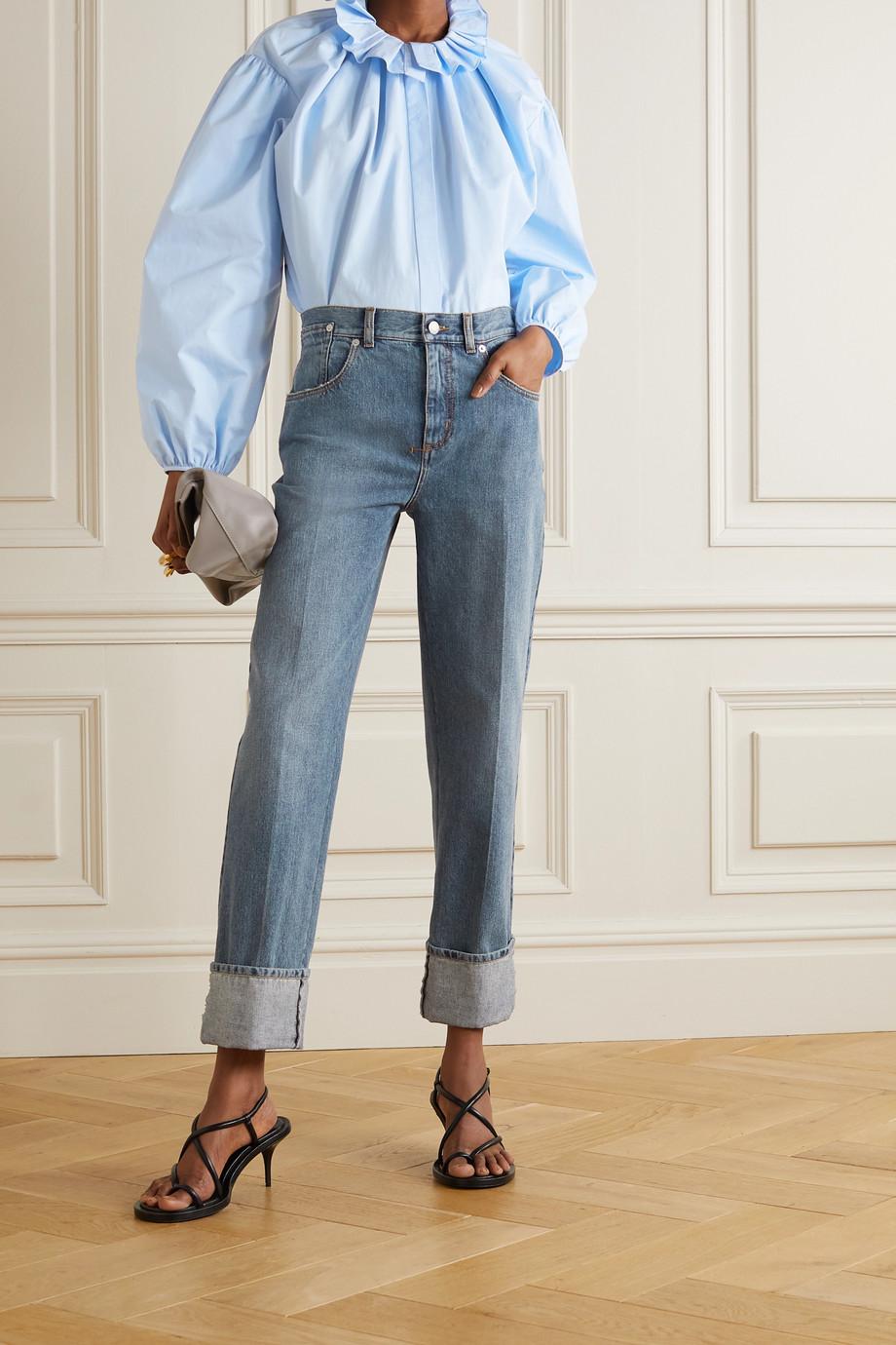 Alexander McQueen Hemd aus Baumwollpopeline mit Rüschen