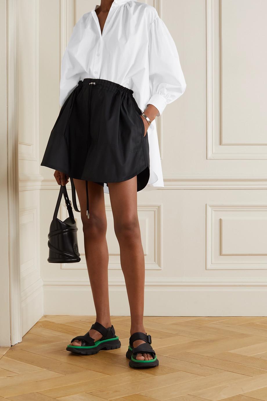 Alexander McQueen Asymmetrisches Hemd aus Baumwollpopeline mit Raffungen