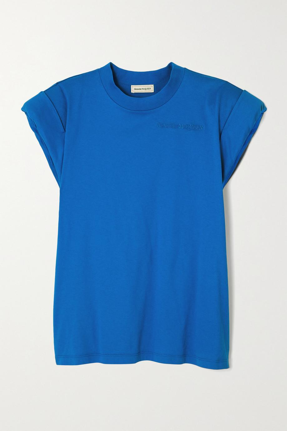 Alexander McQueen T-Shirt aus Baumwoll-Jersey mit Stickerei