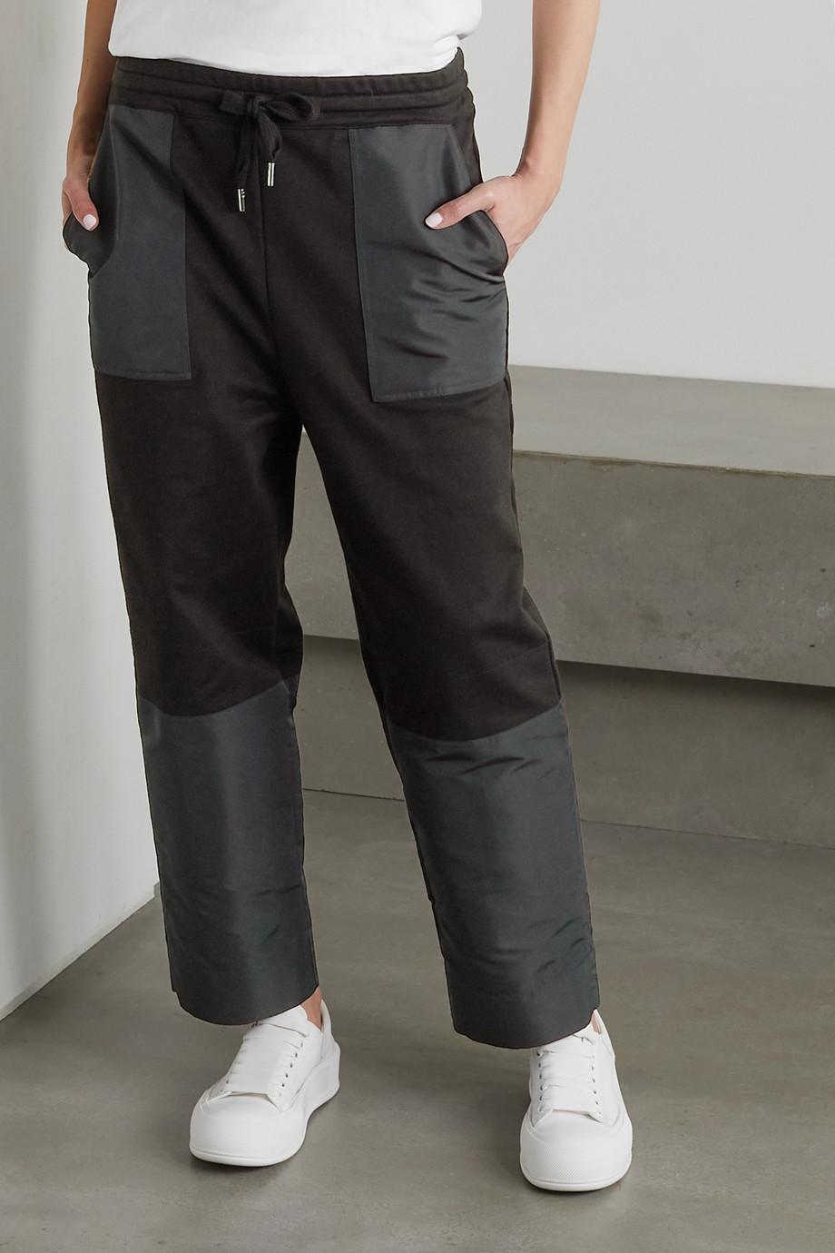 Alexander McQueen Jogginghose aus Baumwoll-Jersey und Shell mit Stickerei