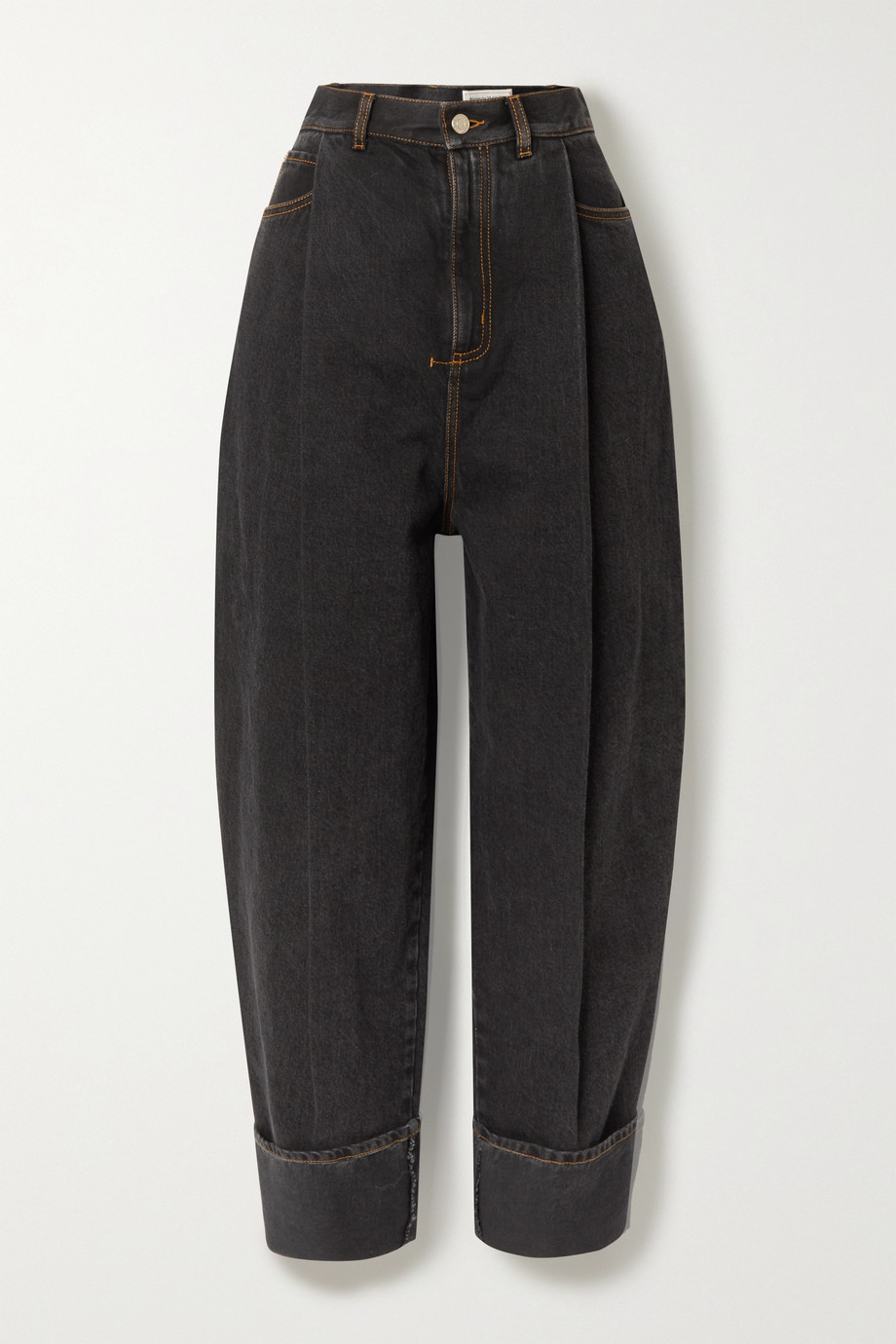 Alexander McQueen Pleated high-rise jeans