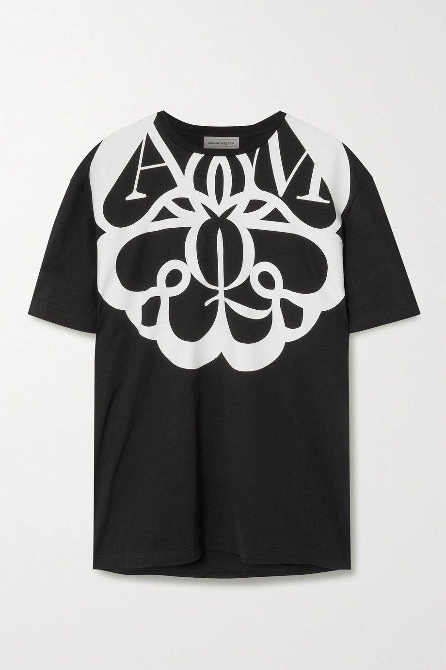 Alexander McQueen T-shirt en jersey de coton imprimé
