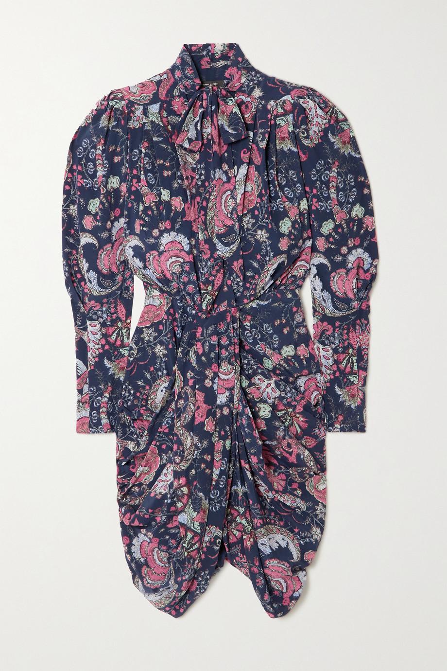 Isabel Marant Batoa ruched floral-print silk-blend crepe de chine dress