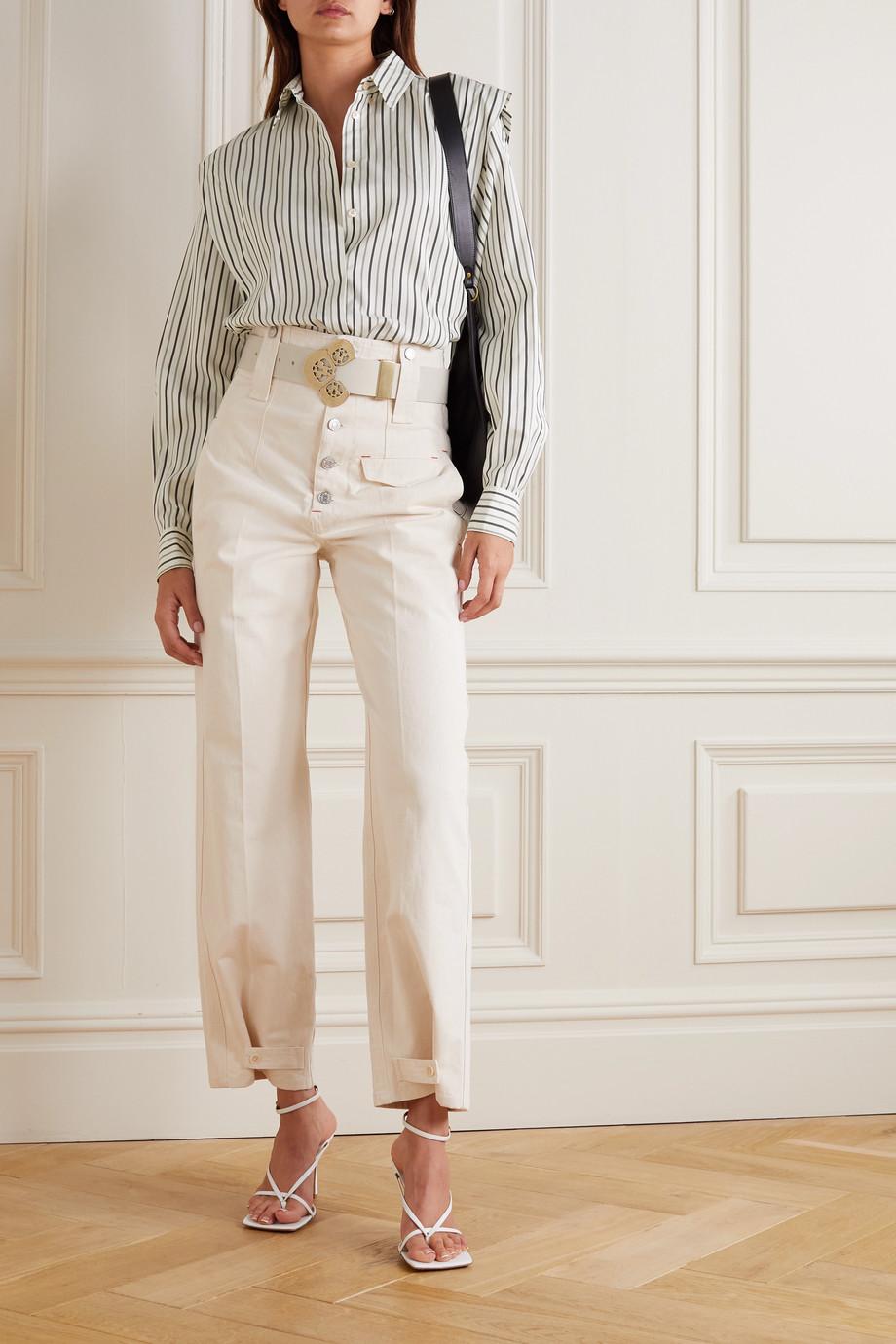 Isabel Marant Sotalki striped silk shirt