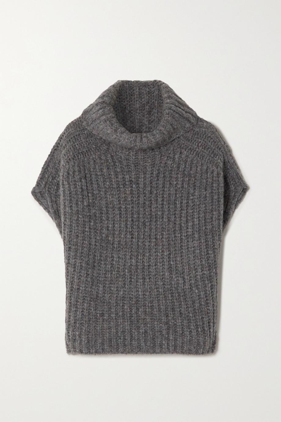 Isabel Marant Ivy oversized ribbed-knit turtleneck sweater