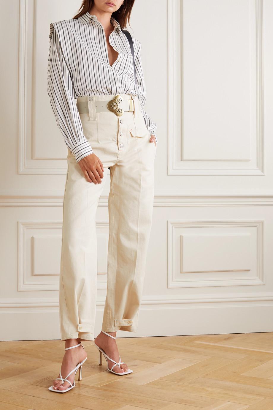 Isabel Marant Darlena convertible cotton-twill straight-leg pants