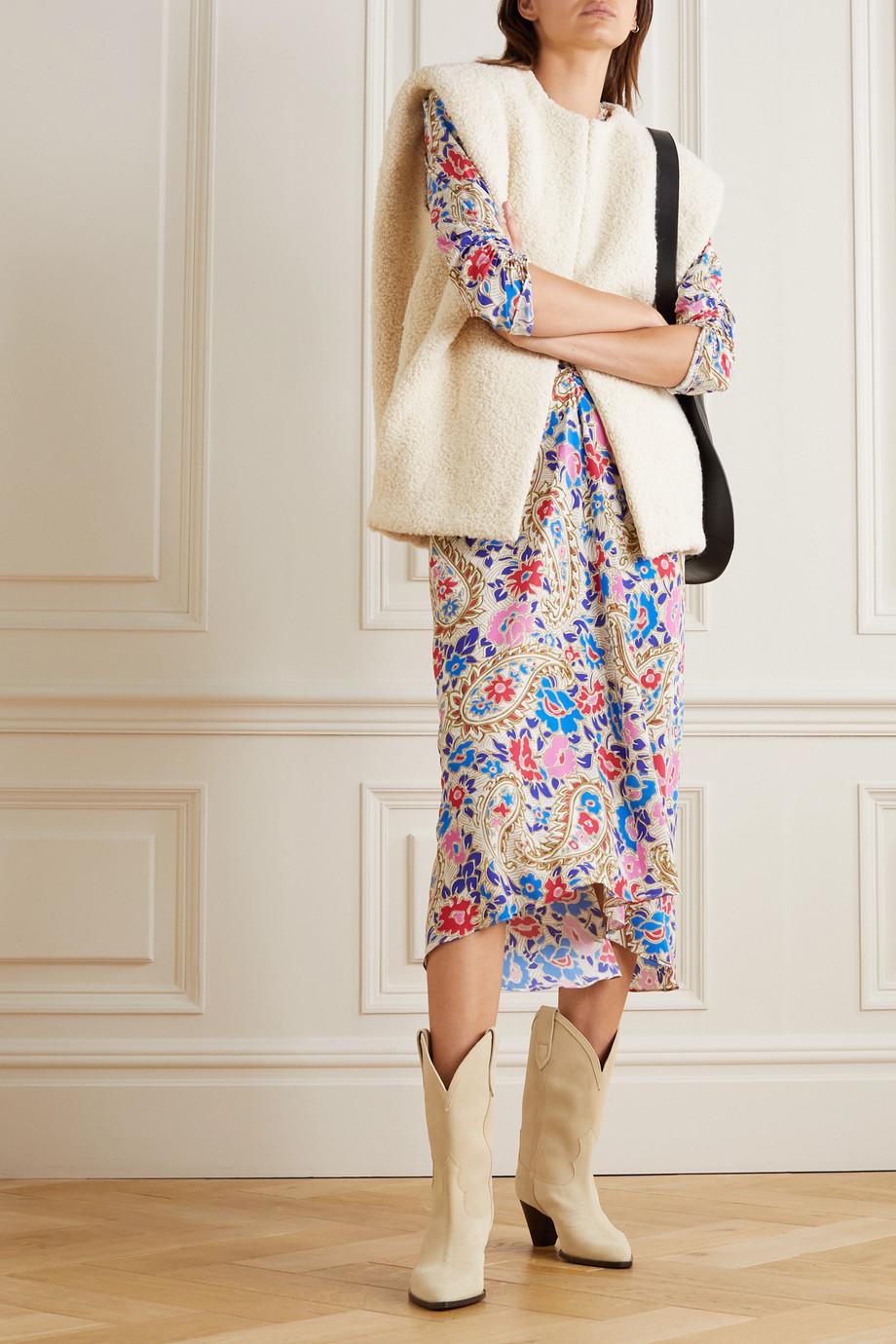 Isabel Marant Gwendae wool-blend bouclé vest