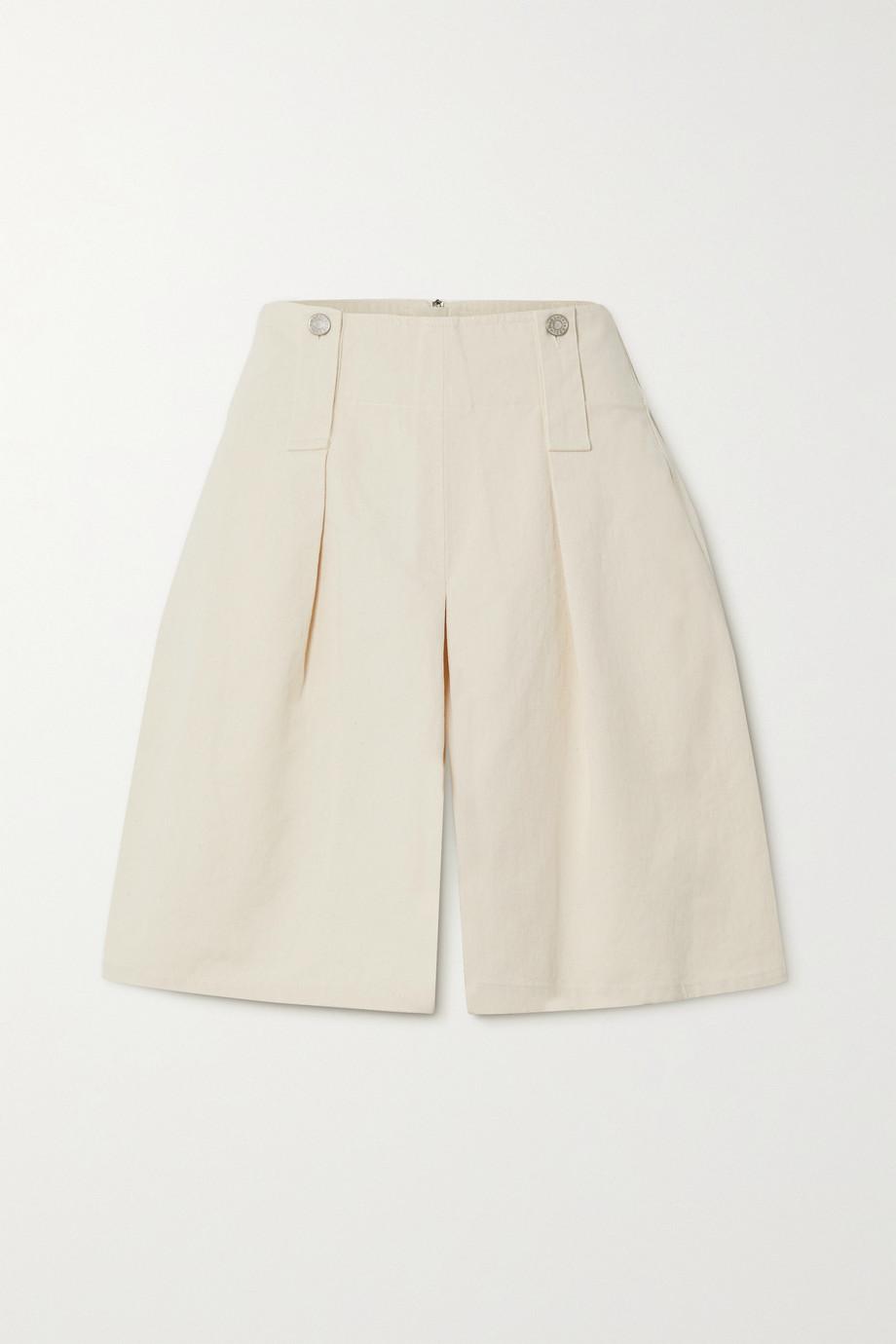 Isabel Marant Dicochia pleated cotton-twill shorts