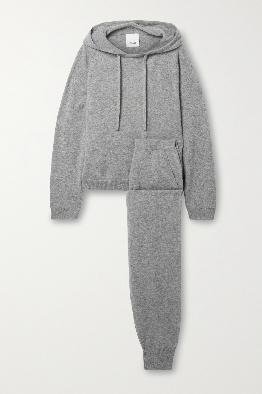 Allude Pull à capuche et pantalon de survêtement en cachemire