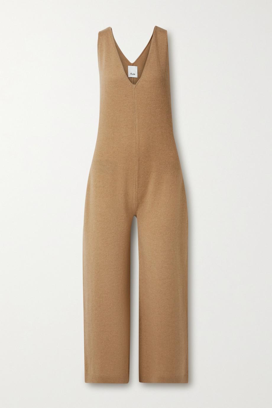 Allude Combi-pantalon en laine et en cachemire mélangés
