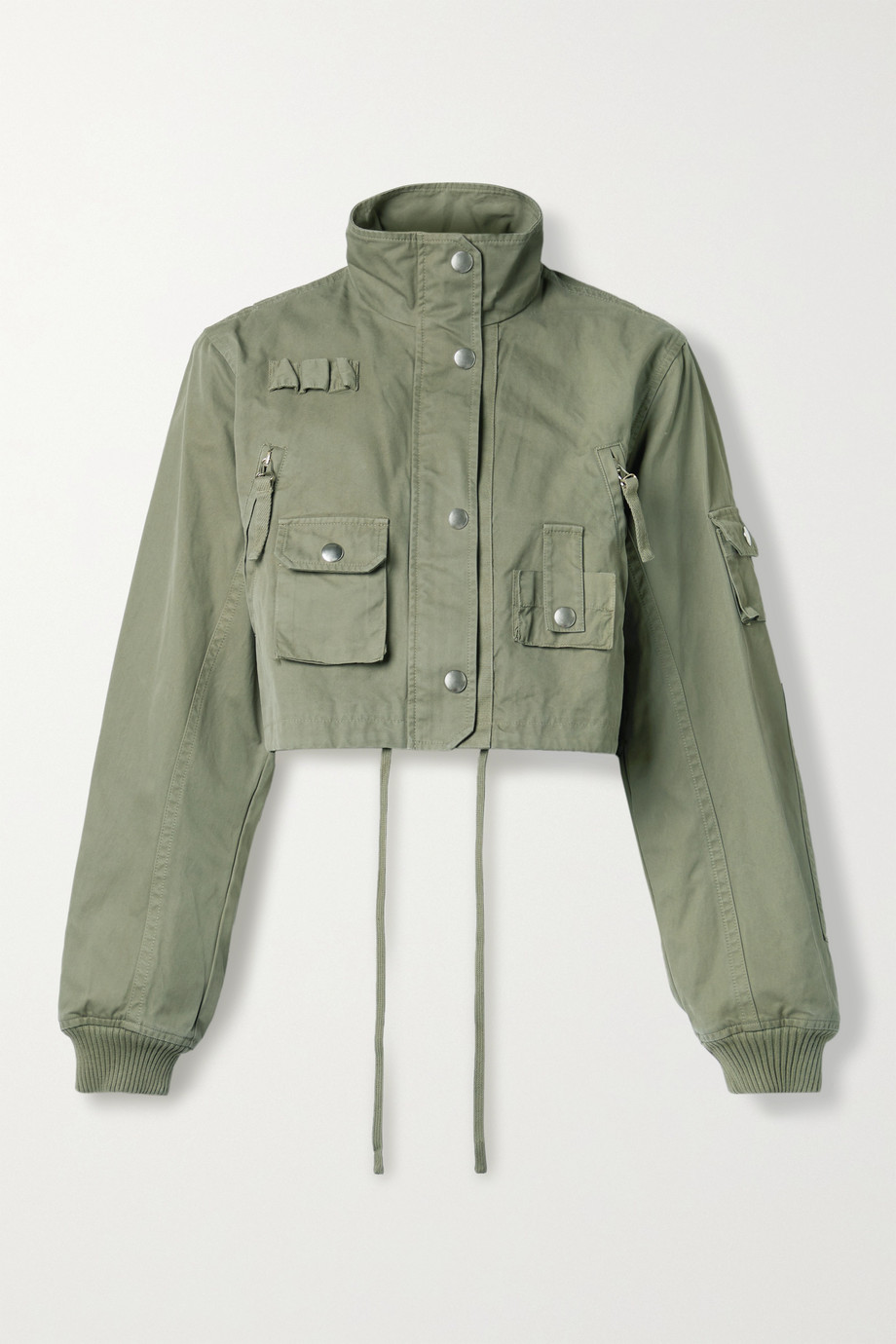 Helmut Lang Cropped cotton-twill jacket