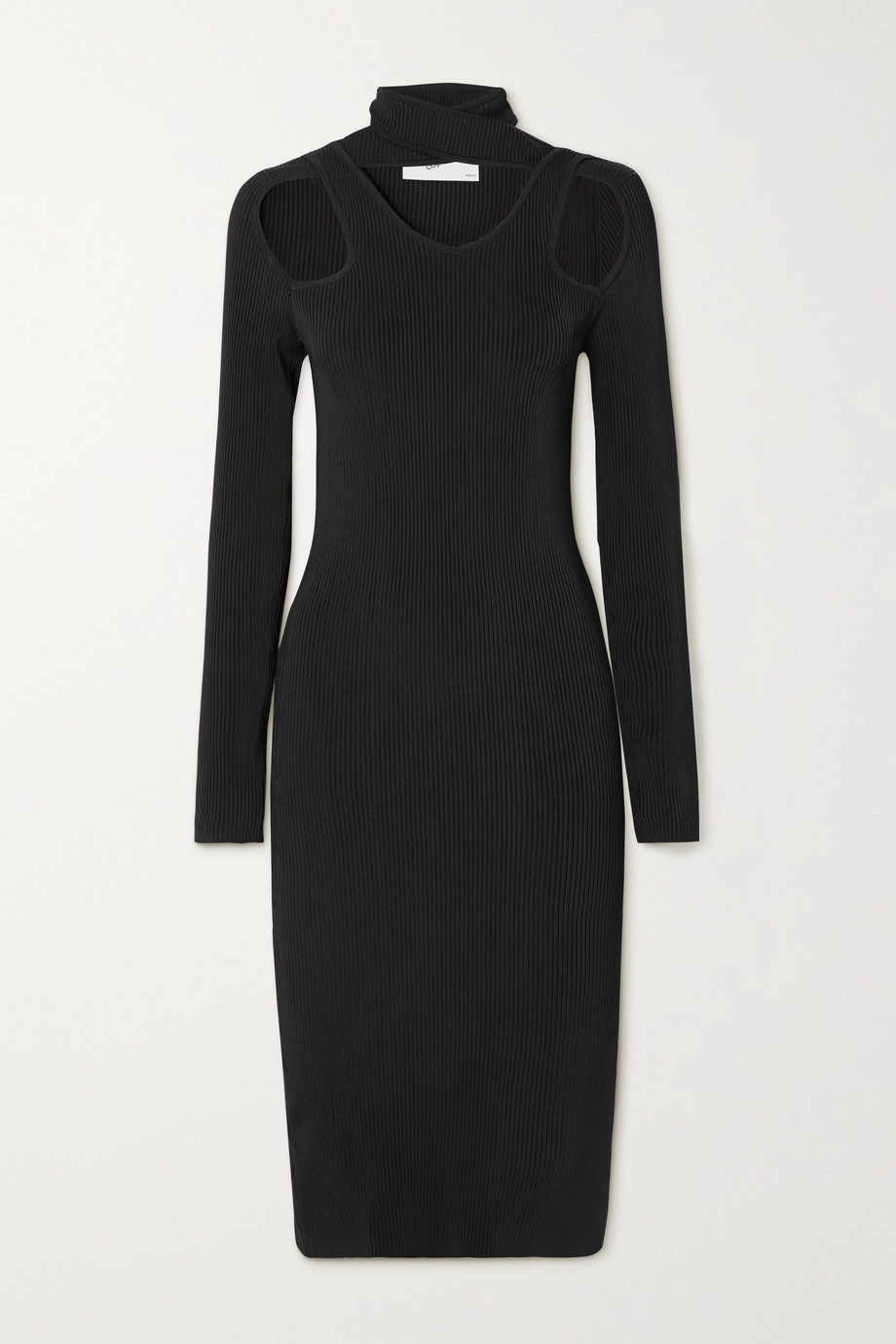 Coperni Cutout ribbed-knit midi dress