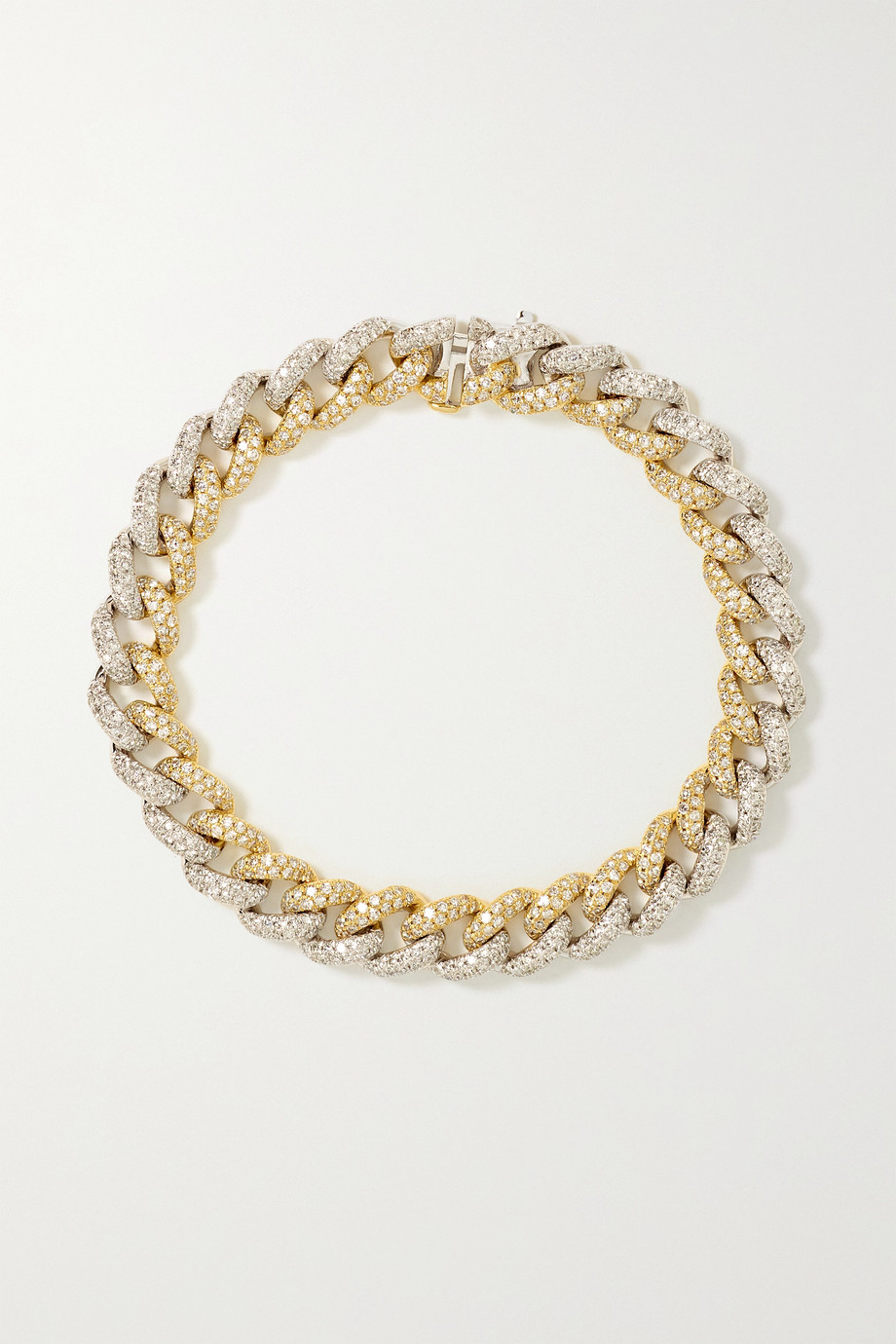 SHAY Bracelet en or jaune et blanc 18 carats et diamants
