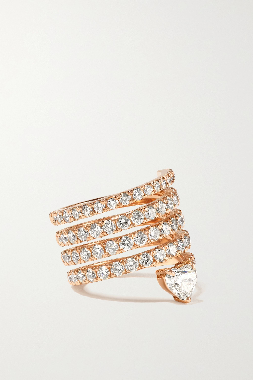 SHAY - 18-karat rose gold diamond ring