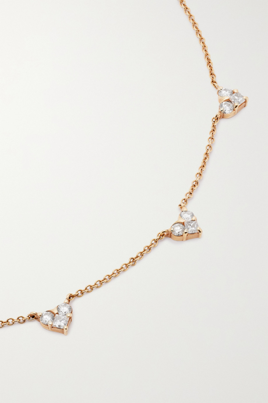 SHAY 18-karat rose gold diamond necklace