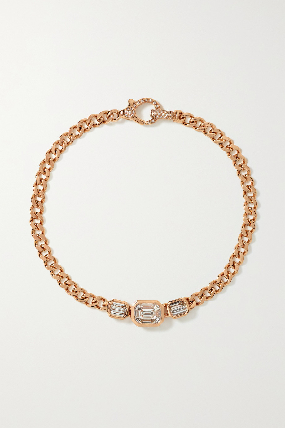 SHAY Bracelet en or rose 18 carats et diamants