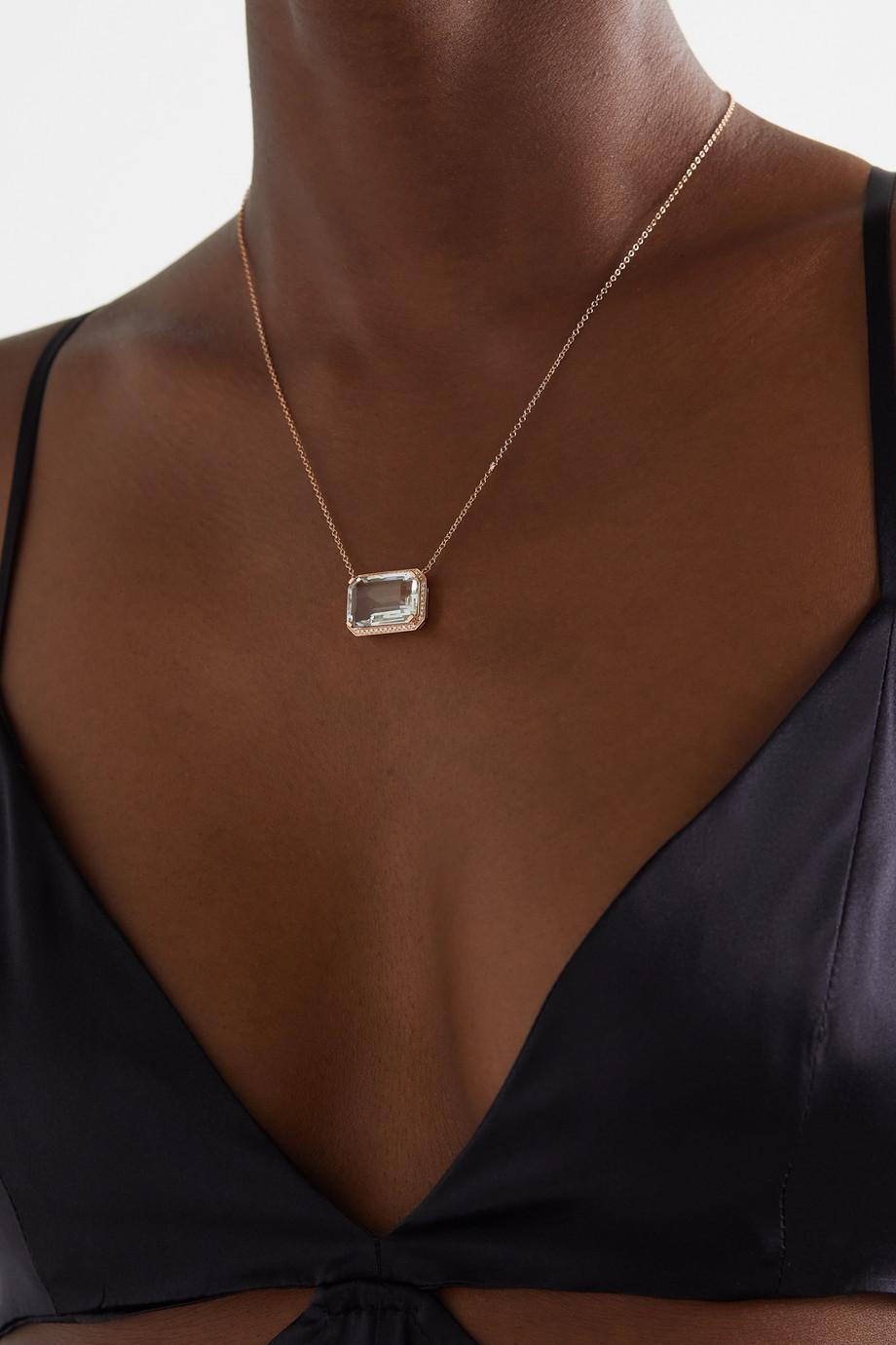 SHAY Kette aus 18 Karat Roségold mit Topas und Diamanten