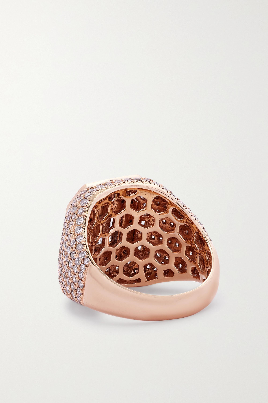 SHAY Champion Ring aus 18 Karat Roségold mit Diamanten