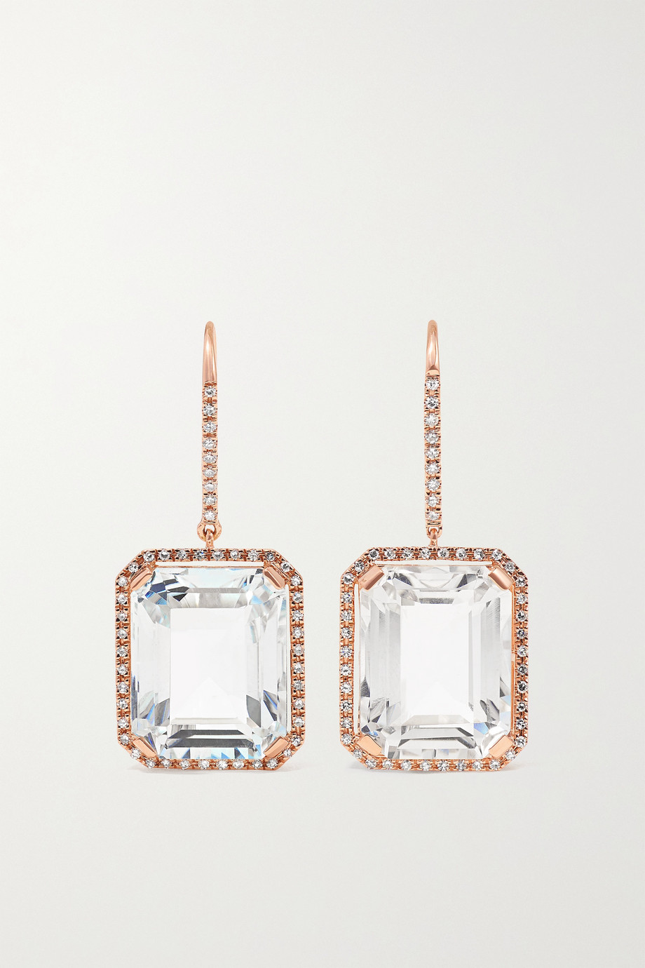 SHAY Ohrringe aus 18 Karat Roségold mit Topasen und Diamanten