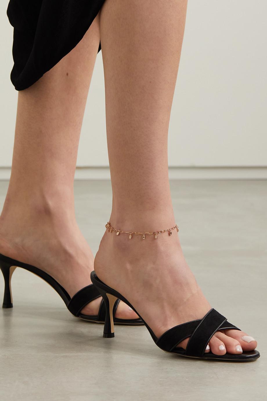 SHAY 18-karat rose gold diamond anklet
