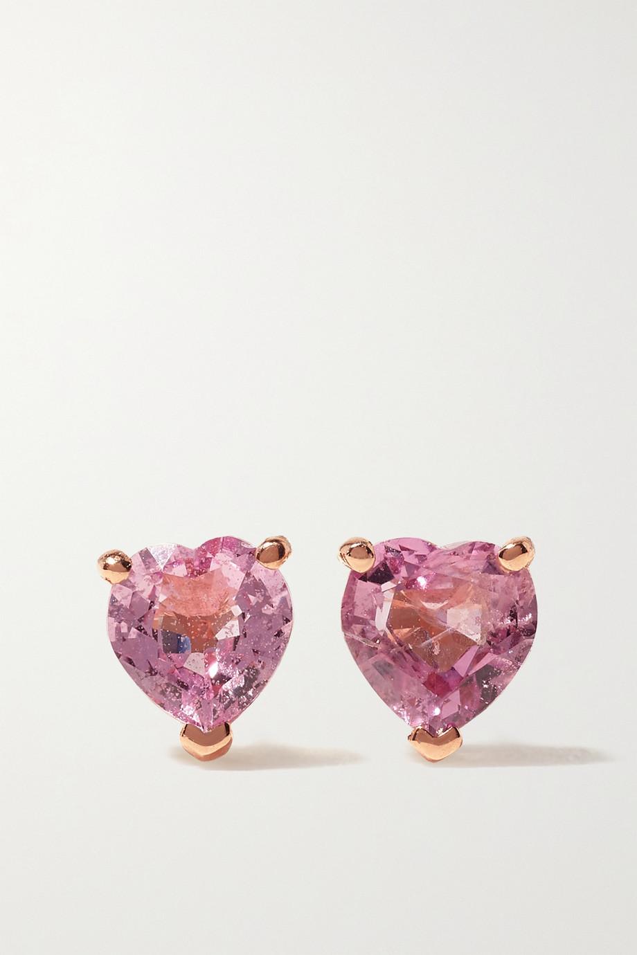 SHAY Boucles d'oreilles en or rose 18carats (750/1000) et saphirs