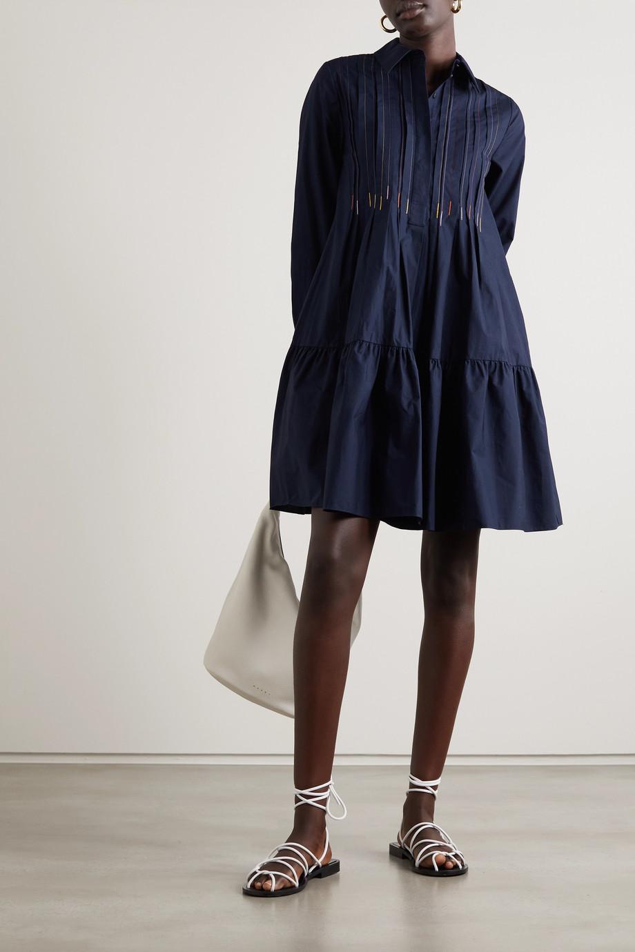 Roksanda Dilara embroidered cotton-poplin shirt dress