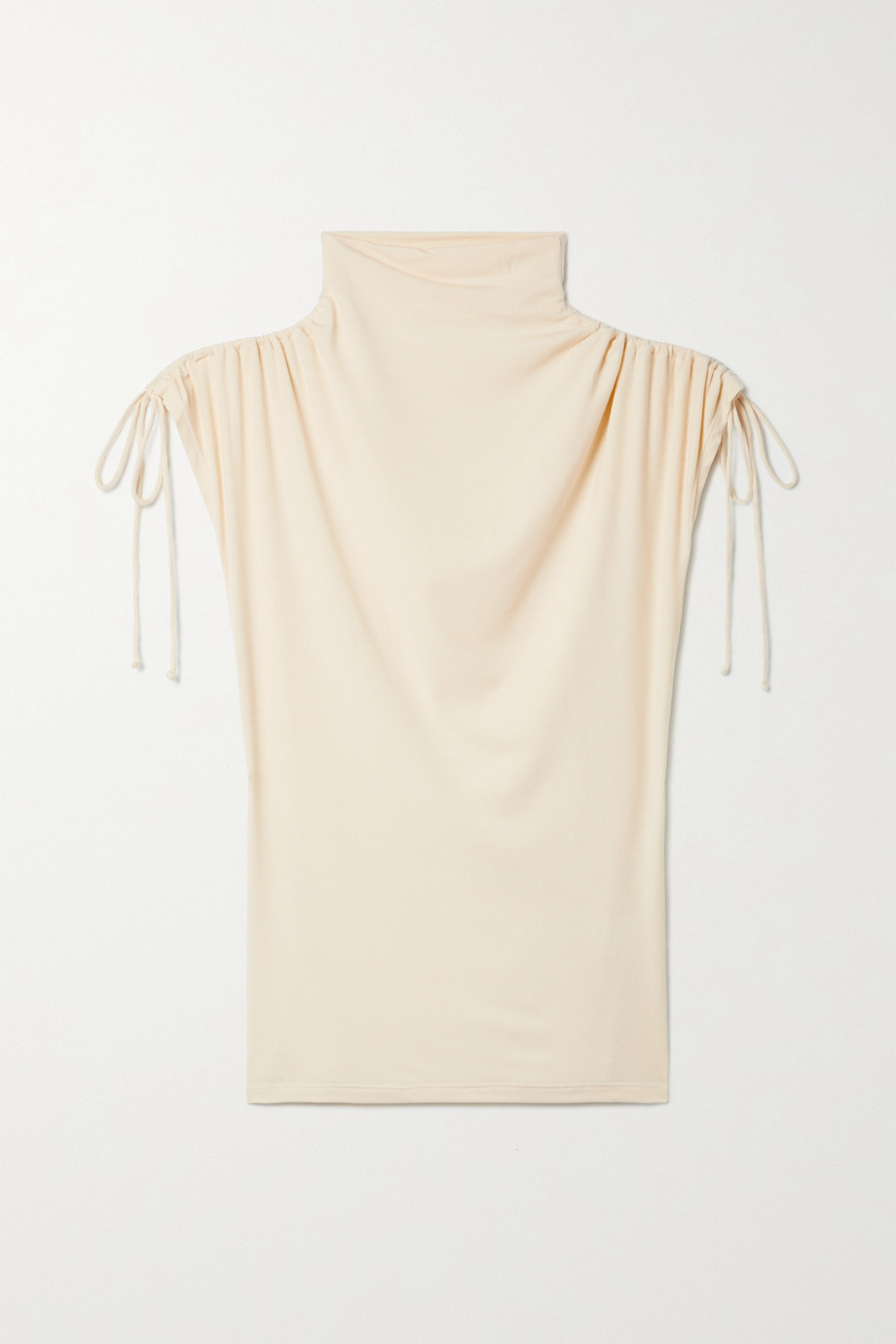 aaizél + NET SUSTAIN ruched stretch-jersey top
