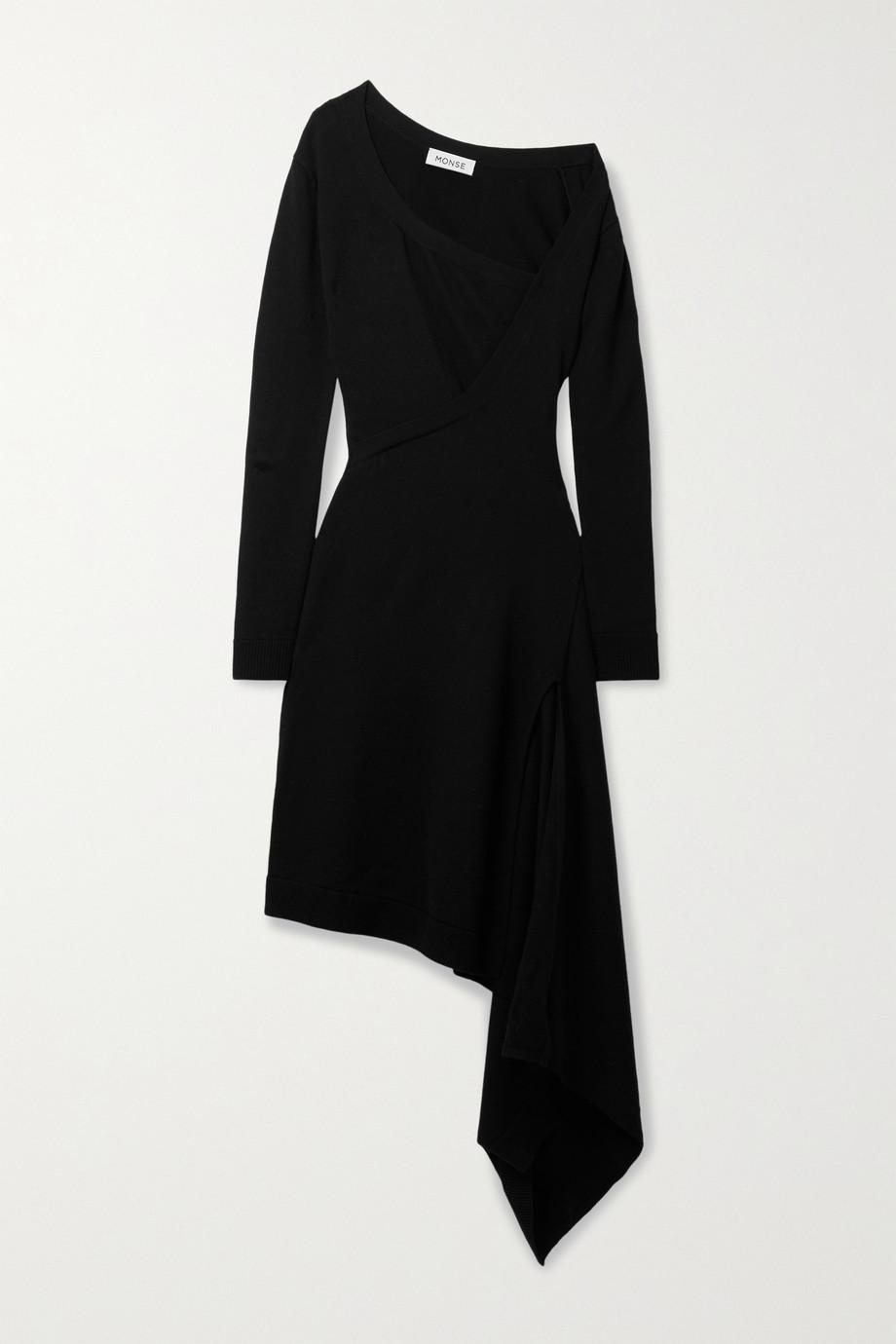 Monse Robe asymétrique effet portefeuille en laine mérinos
