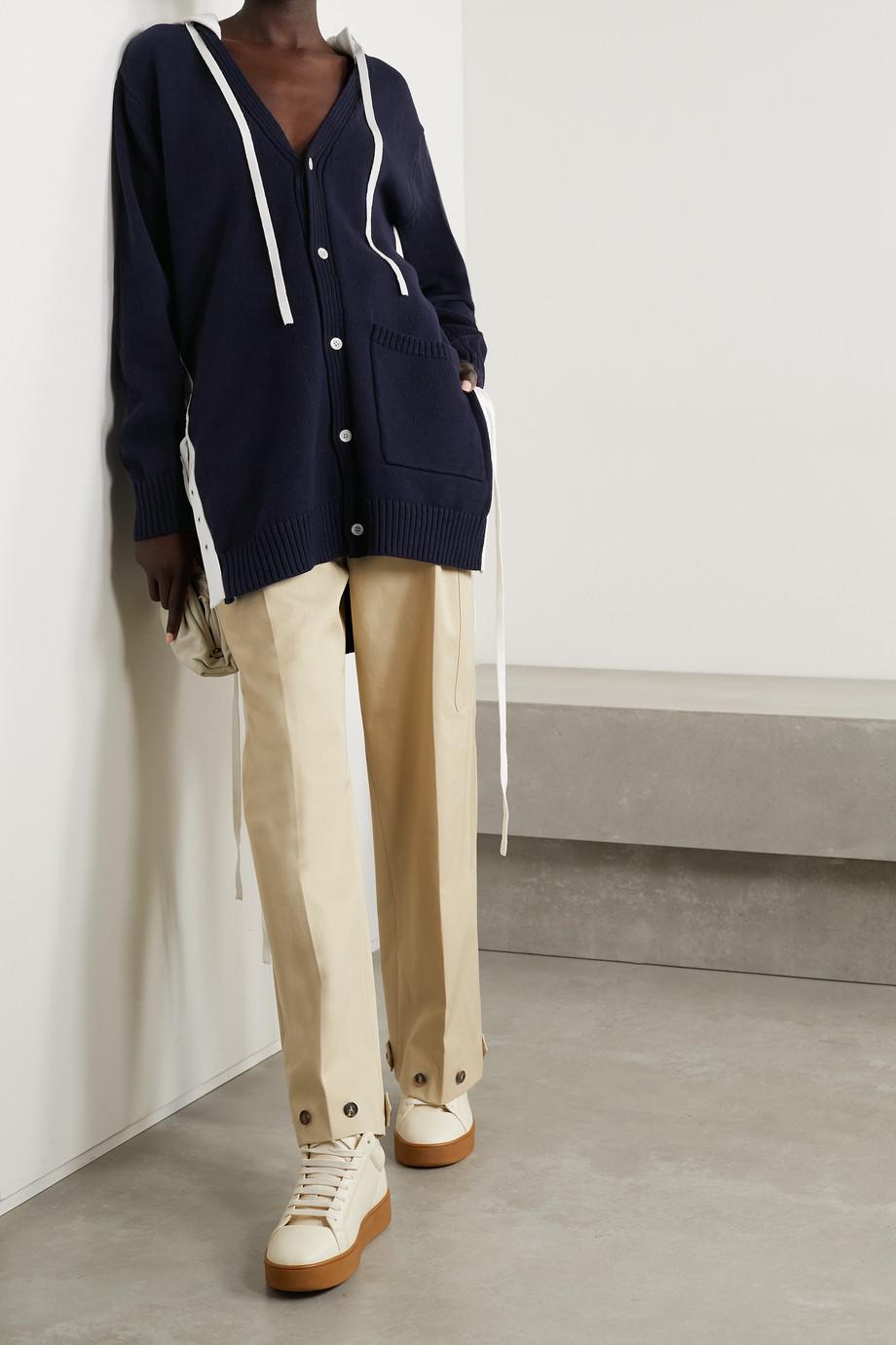 Monse Cardigan aus Baumwolle mit Kapuze und Schnürungen