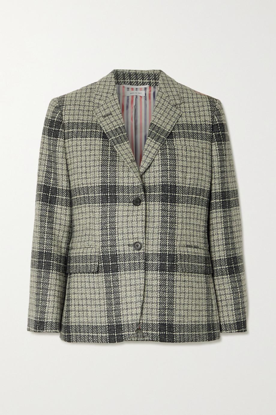 Thom Browne Blazer en tweed de laine à carreaux