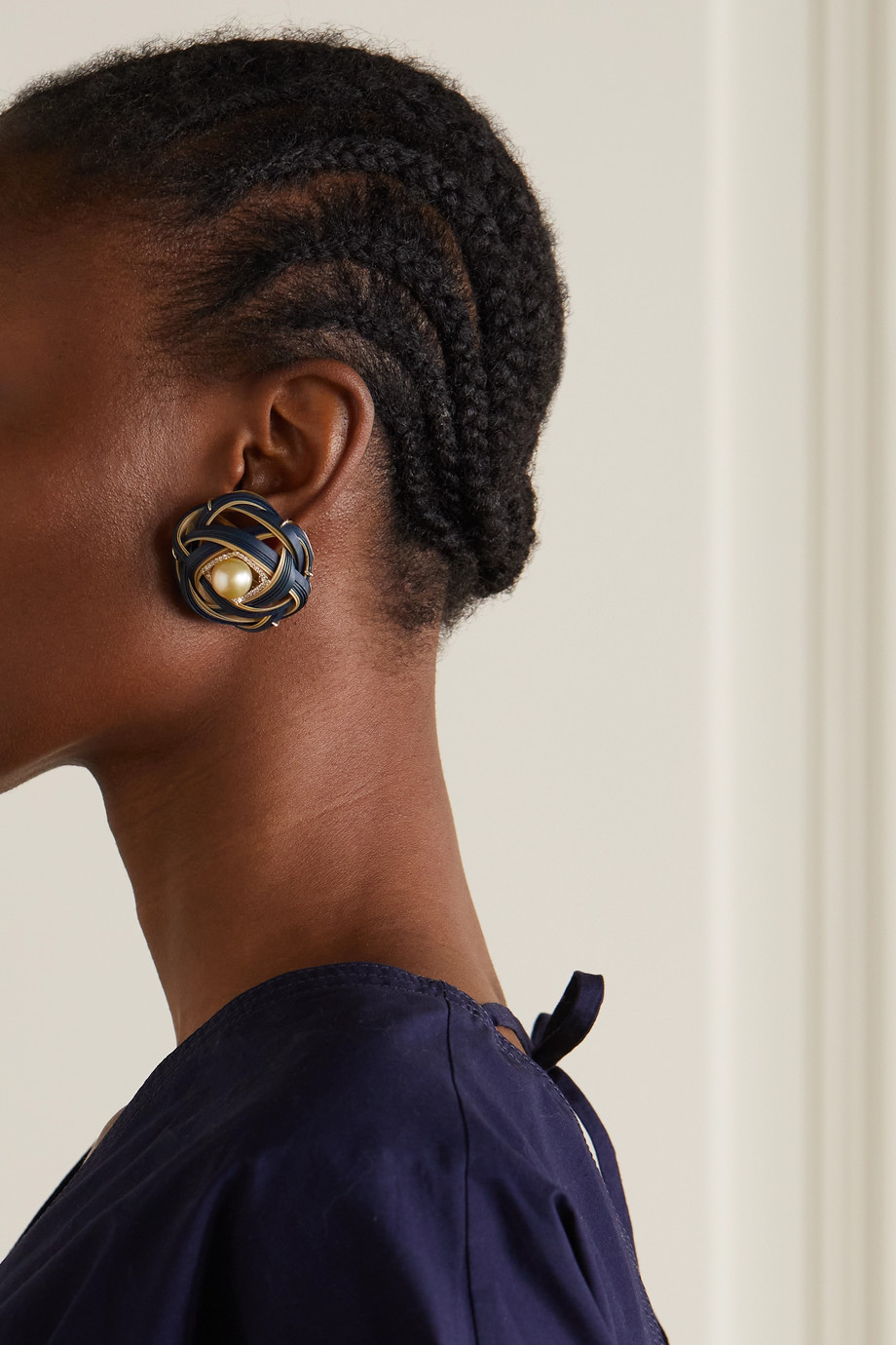 Silvia Furmanovich Boucles d'oreilles en or 18 carats (750/1000), bambou et pierres multiples