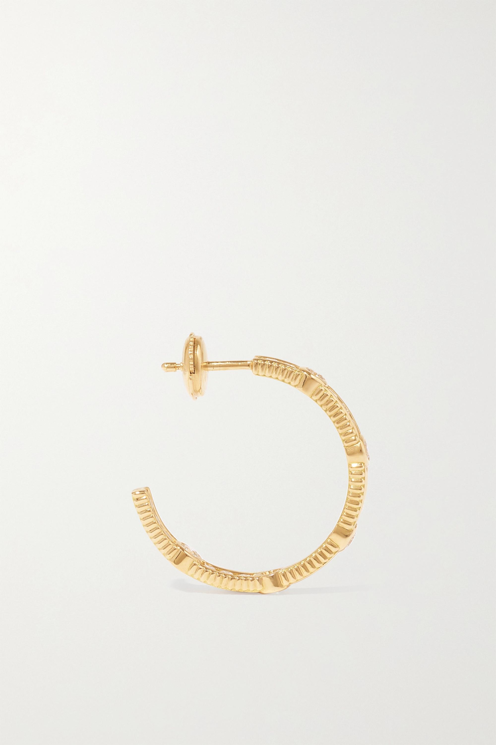 Viltier Rayon Creolen aus 18 Karat Gold mit Diamanten