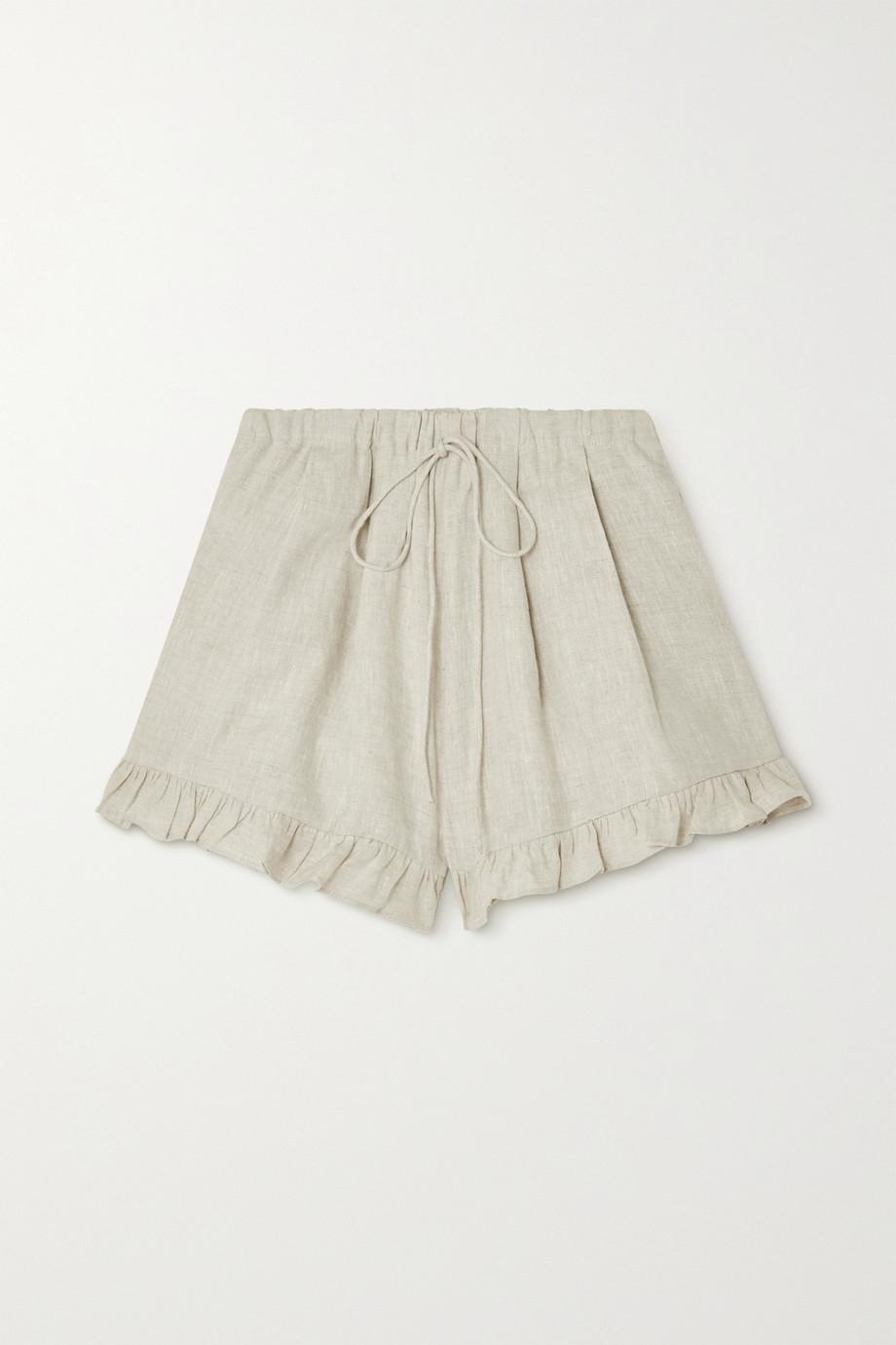 Joslin + NET SUSTAIN Gracie ruffled linen shorts