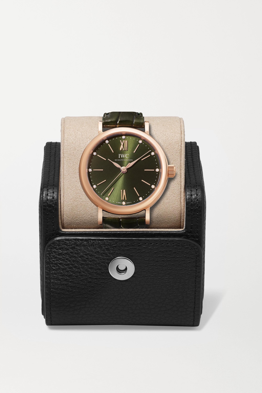 IWC SCHAFFHAUSEN Portofino Automatic 34 mm Uhr aus 18 Karat Rotgold mit Alligatorlederarmband und Diamanten