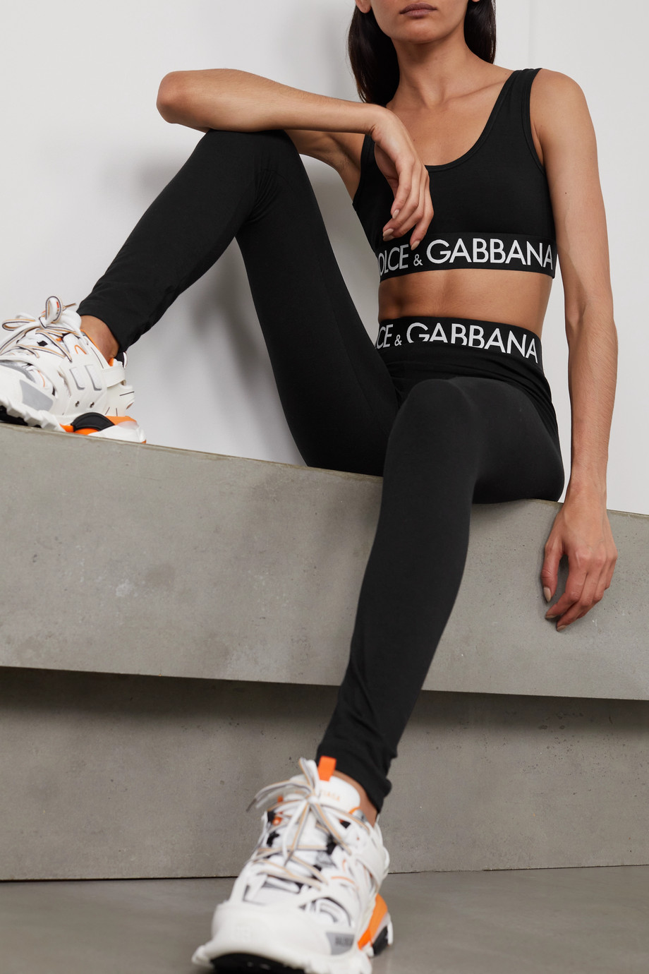 Dolce & Gabbana Legging en jersey de coton stretch