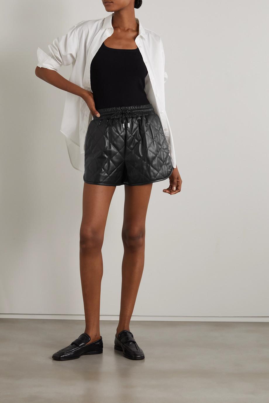 Dolce & Gabbana Short en cuir matelassé à ornements