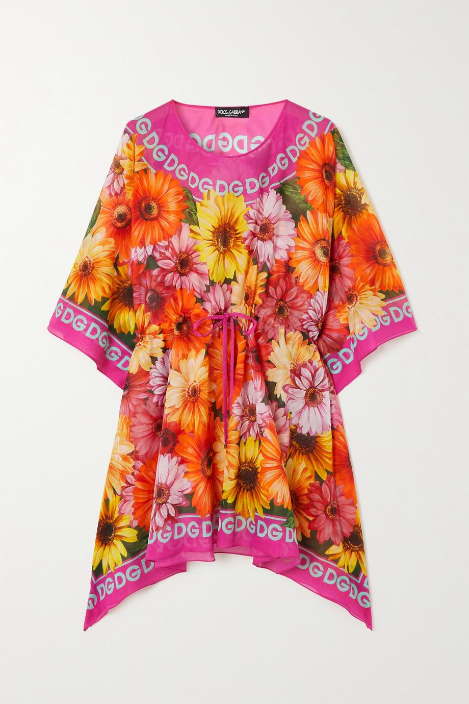 Dolce & Gabbana Pop floral-print cotton-voile kaftan