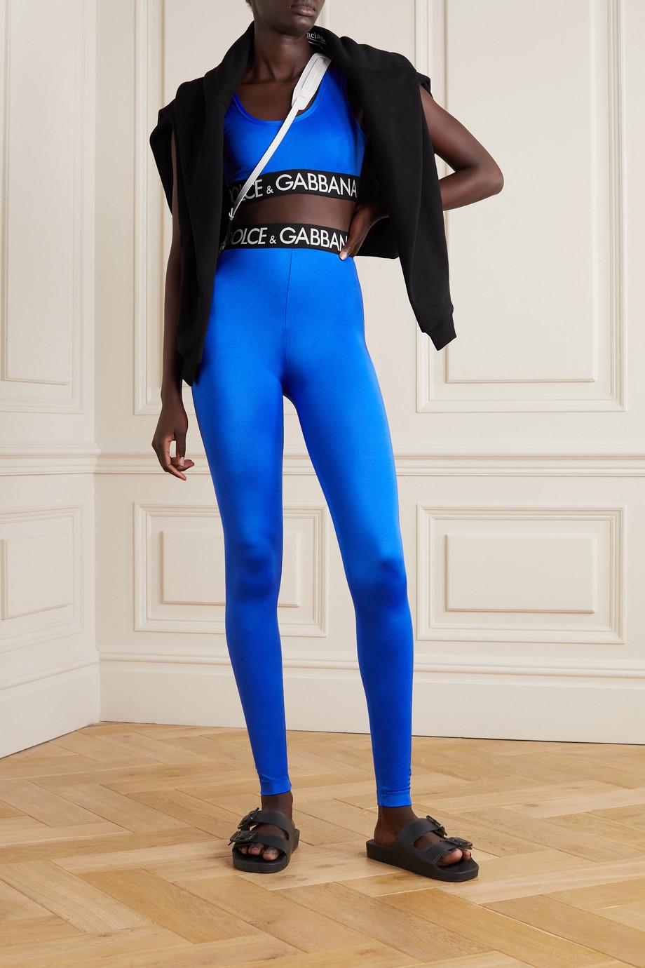 Dolce & Gabbana Pop cropped stretch-jersey top