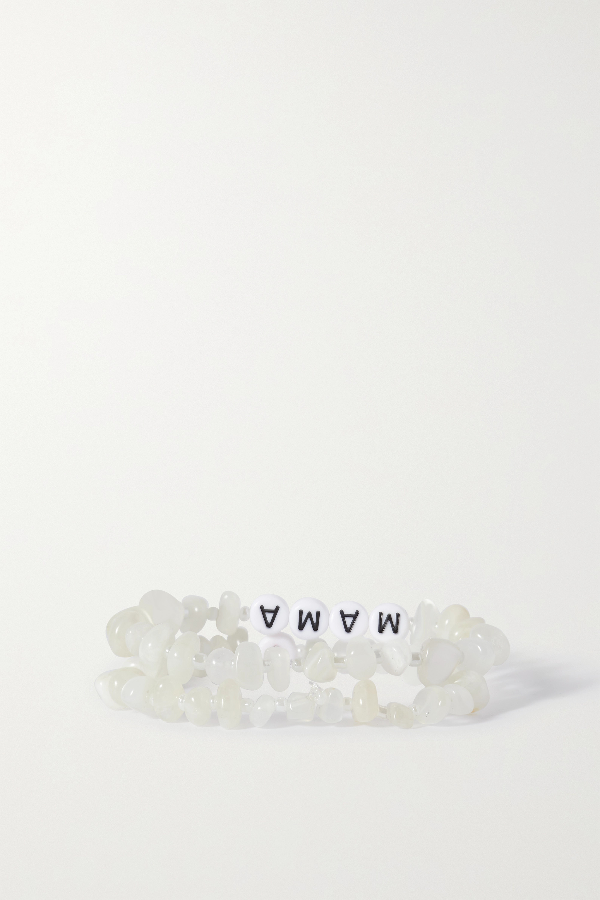 TBalance Crystals Set of two moonstone and enamel bracelets