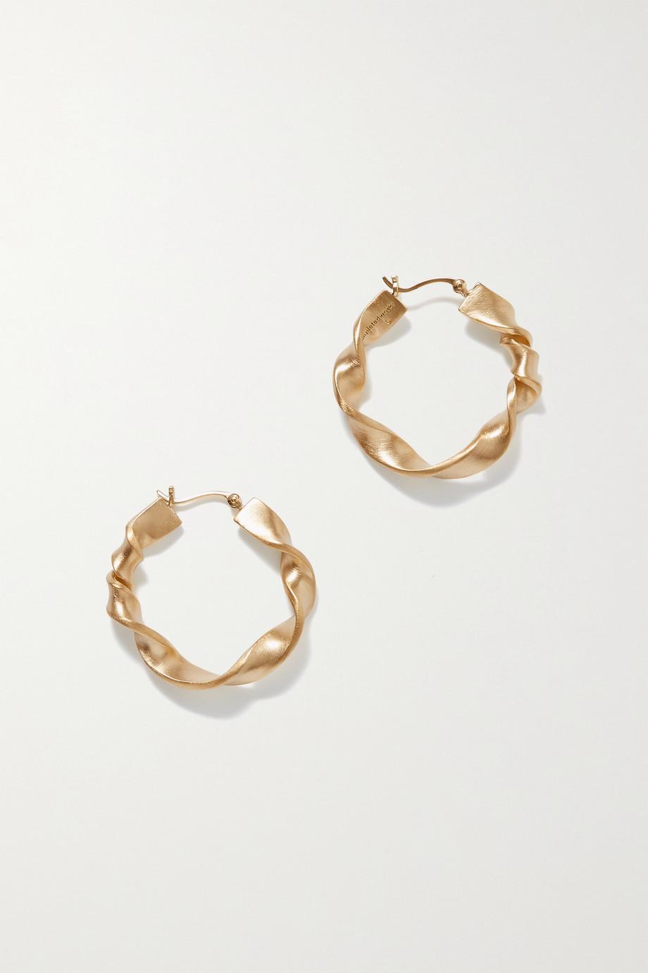 Completedworks Flux gold-plated hoop earrings