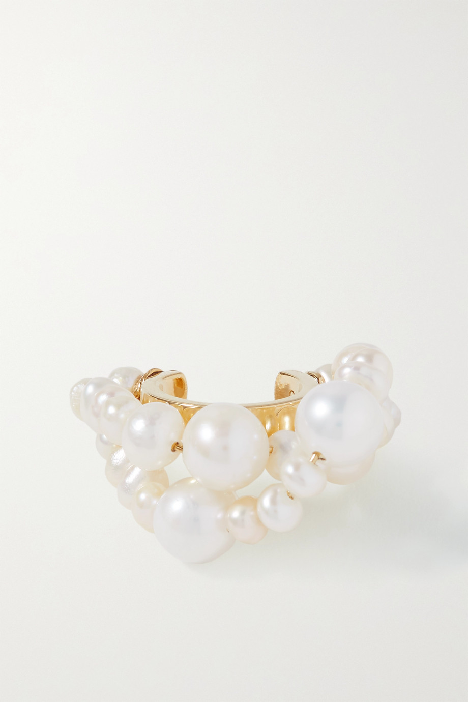Completedworks Bijou d'oreille en vermeil et perles Cumulus