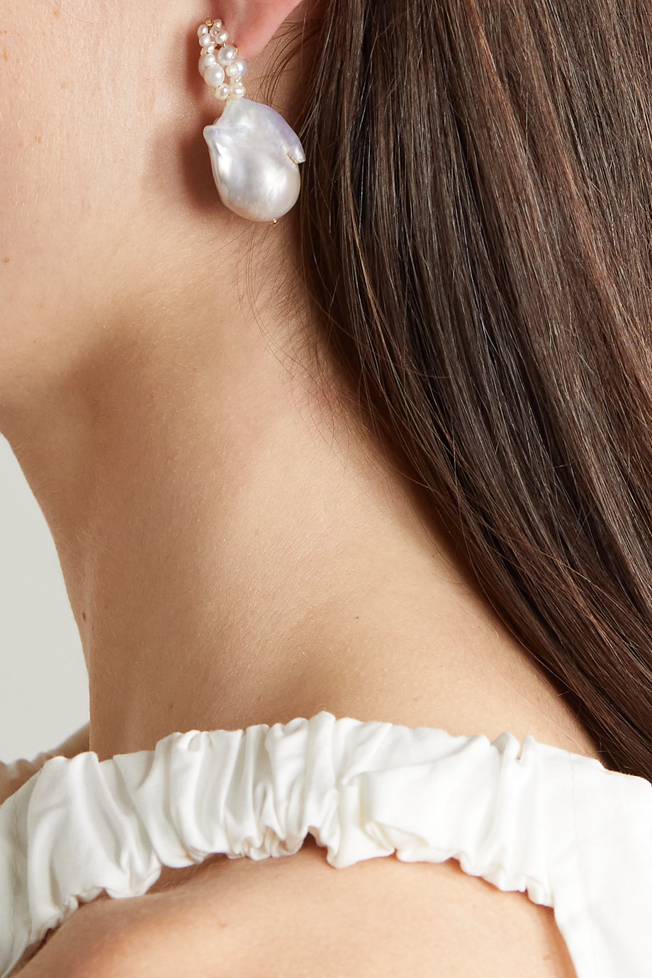 Completedworks Boucles d'oreilles en vermeil et perles Tra-La-La