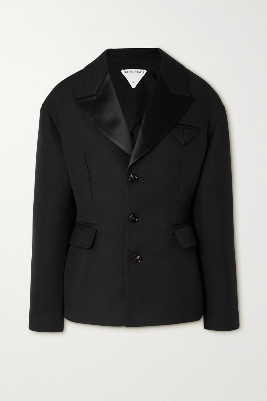 Bottega Veneta Satin-trimmed grain de poudre jacket