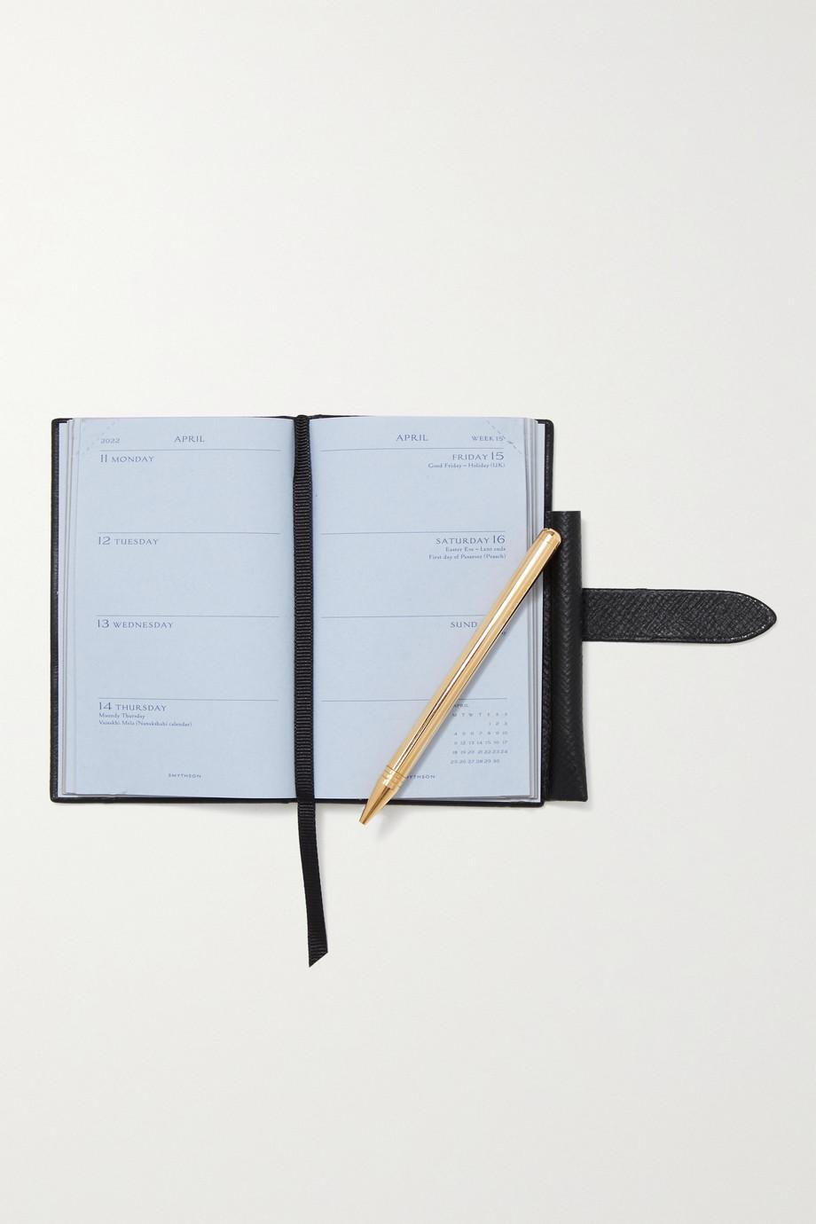 Smythson Agenda 2022 en cuir texturé The Wafer