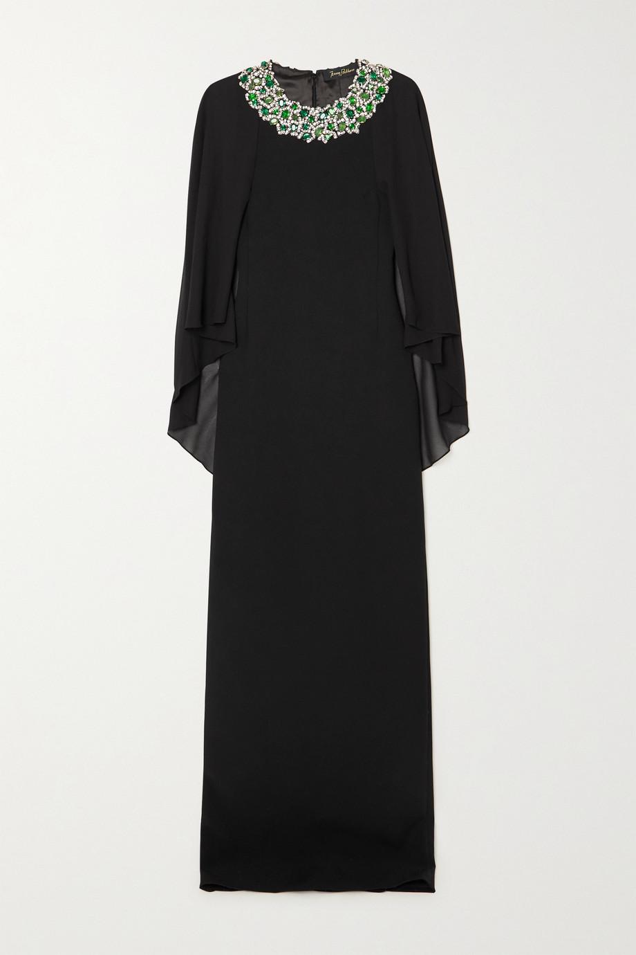 Jenny Packham Audrey embellished crepe and chiffon gown