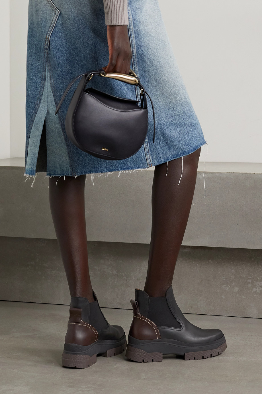 See By Chloé Cassidie zweifarbige Chelsea Boots aus Leder