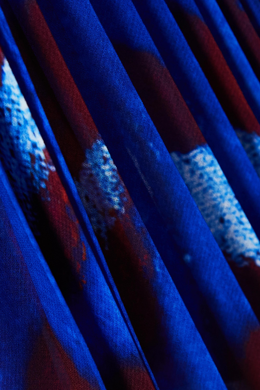 Altuzarra Robe asymétrique en crêpe de Chine imprimé à plissé soleil Annabella