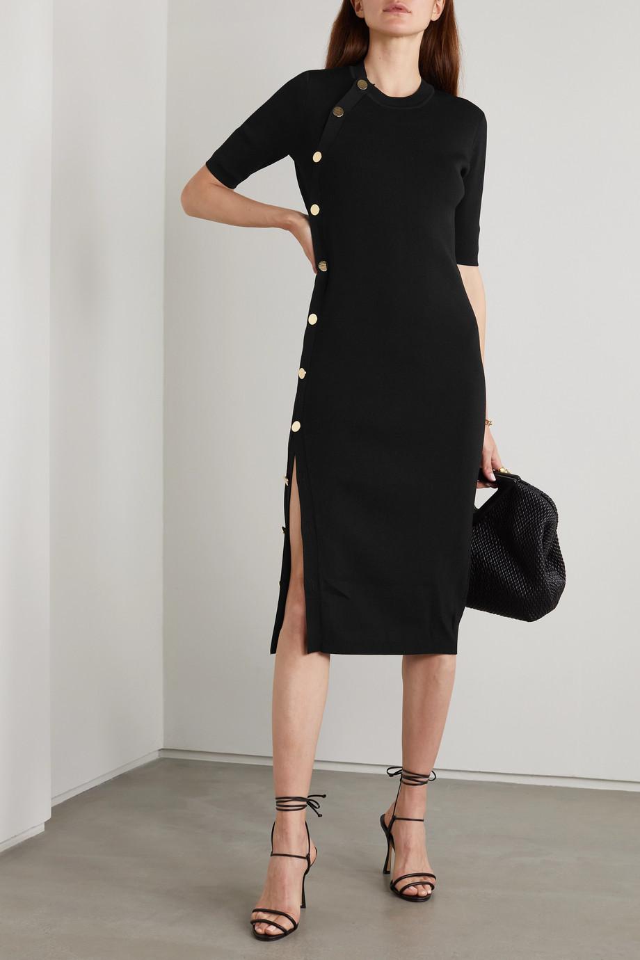 Altuzarra Topaz button-detailed ribbed-knit midi dress