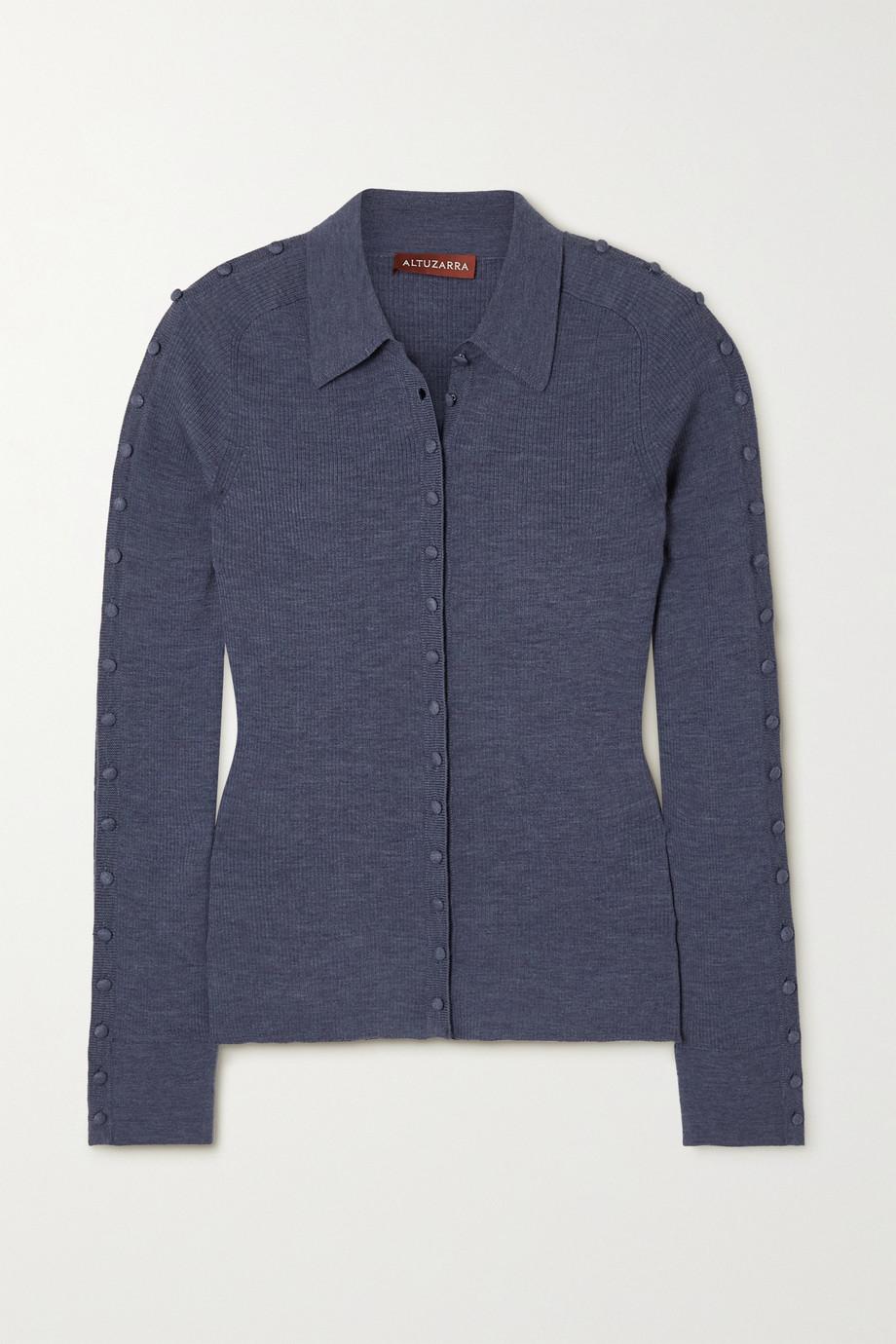 Altuzarra Hill Hemd aus einer gerippten Wollmischung mit Knöpfen